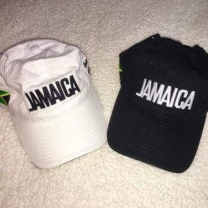 Accessories - Two Jamaica hats new (1) black, (1) white